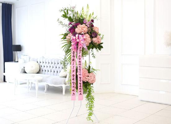 결혼식을 빛내주는 품격있는 오브제 축하화환 - 더욱더 행복하세요