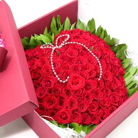 하트100송이 박스 [박스품절로 바구니로 대체함] 꽃배달하시려면 이미지를 클릭해주세요