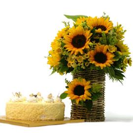 케익과 함께 - 좋은 하루! 꽃배달하시려면 이미지를 클릭해주세요