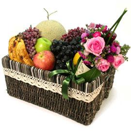 [과일바구니] 과일 한가득 - 와인과 함께 가을에 쓰는 편지 꽃배달하시려면 이미지를 클릭해주세요
