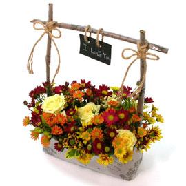 [서울배송]국화향이 진~한 - 가을편지 하나(바구니 품절시 변경될 수 있음) 꽃배달하시려면 이미지를 클릭해주세요