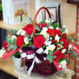[전국배송] 사랑의 기도 (**바구니 변경) 꽃배달하시려면 이미지를 클릭해주세요