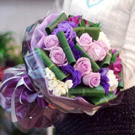 꽃다발을 하나 주세요 - Cobalt Violet 꽃배달하시려면 이미지를 클릭해주세요
