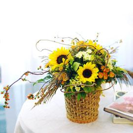 가을이 준 행복 - 숲길에 다다르기전(바구니변경) 꽃배달하시려면 이미지를 클릭해주세요
