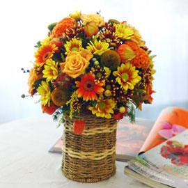 [서울배송]가을이 준 행복 - 계절의 감동 꽃배달하시려면 이미지를 클릭해주세요