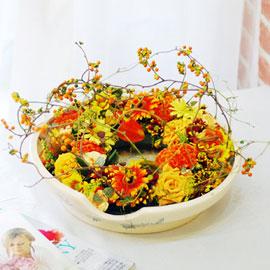 가을이 준 행복 - 집안에 꽃이 피었다(화기변경됨) 꽃배달하시려면 이미지를 클릭해주세요
