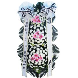 근조3단화환(르네브포인트) 꽃배달하시려면 이미지를 클릭해주세요