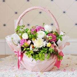 [서울배송] Pink basket(바구니 품절시 변경될 수 있음) 꽃배달하시려면 이미지를 클릭해주세요