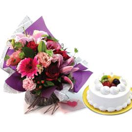 [서울배송] 동화 + 생크림 케익 1호 꽃배달하시려면 이미지를 클릭해주세요