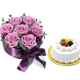 [서울배송]올리비아 + 생크림케익1호 꽃배달하시려면 이미지를 클릭해주세요