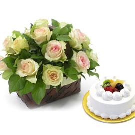 [서울배송] 수+ 생크림케익1호 꽃배달하시려면 이미지를 클릭해주세요