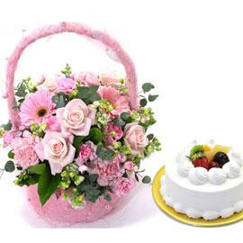 [서울배송] 축하해 진심으로+ 생크림케익 1호 꽃배달하시려면 이미지를 클릭해주세요