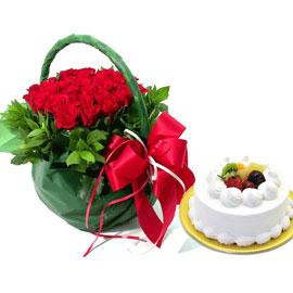 [전국배송] 오직 너를 위해서+ 생크림케익 1호 꽃배달하시려면 이미지를 클릭해주세요