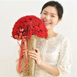 [서울배송]꽃의 여왕 장미 - 샤샤의 유혹[100](화기는 변경될 수 있음) 꽃배달하시려면 이미지를 클릭해주세요
