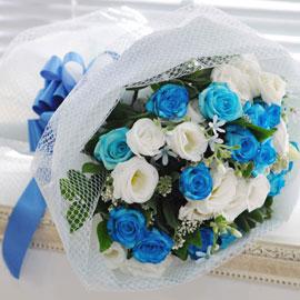 That's cool - Blue rose bouquet 꽃배달하시려면 이미지를 클릭해주세요