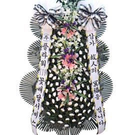 근조3단화환 ( 르네브포인트 大 ) 꽃배달하시려면 이미지를 클릭해주세요