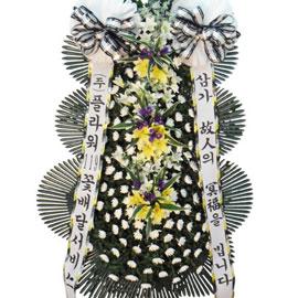 근조3단화환 ( 노랑나리포인트 大 ) 꽃배달하시려면 이미지를 클릭해주세요