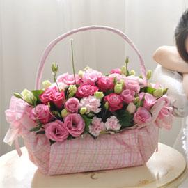 [서울배송] Bling bling -Love melody(바구니 품절시 변경될 수 있음) 꽃배달하시려면 이미지를 클릭해주세요
