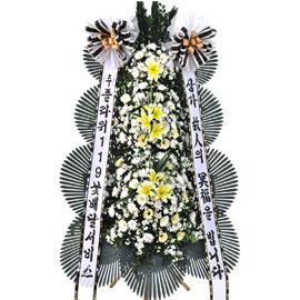 애도의 마음을 전합니다- 플라워119 근조3단화환( 혼합 고급형 ) 꽃배달하시려면 이미지를 클릭해주세요