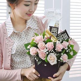 [서울배송] Happy valentine's day! - 달콤해(화기는 변경될 수 있습니다) 꽃배달하시려면 이미지를 클릭해주세요