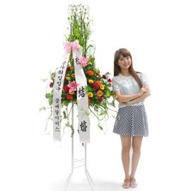 [플라워119 디자인화환] 레드 축하화환 꽃배달하시려면 이미지를 클릭해주세요