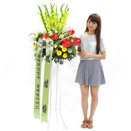 [플라워119 디자인화환] 레드포인트 축하화환 꽃배달하시려면 이미지를 클릭해주세요