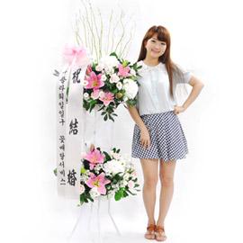 [플라워119 디자인화환] 웨딩 축하화환 꽃배달하시려면 이미지를 클릭해주세요