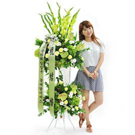 [플라워119 디자인화환] 라임그린 꽃배달하시려면 이미지를 클릭해주세요