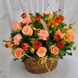 [서울배송] 상큼한 겨울 꽃 - Happy winter orange 꽃배달하시려면 이미지를 클릭해주세요