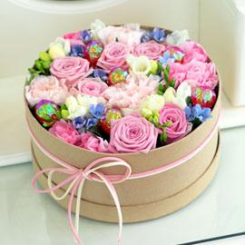 [서울배송] 봄날의 로맨스 - Lovely mint -사각 또는 원형박스로 진행됩니다. 꽃배달하시려면 이미지를 클릭해주세요