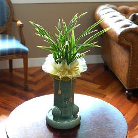 Office&Nature - 난 무늬가 선명한 금기 꽃배달하시려면 이미지를 클릭해주세요