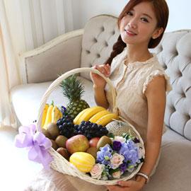 [서울배송] 상큼 풍성 과일바구니 꽃배달하시려면 이미지를 클릭해주세요