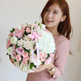 [서울,배송] Lovely sweet II - Pastel pink(*바구니변경) 꽃배달하시려면 이미지를 클릭해주세요