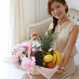 [전국배송] 가득 담긴 과일바구니 꽃배달하시려면 이미지를 클릭해주세요