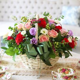 [서울배송] Lovely sweet II - Natural basket 꽃배달하시려면 이미지를 클릭해주세요