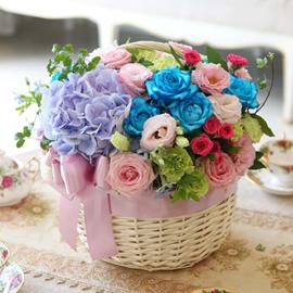 [서울배송] Lovely sweet II - Pastel LUV(*바구니변경) 꽃배달하시려면 이미지를 클릭해주세요