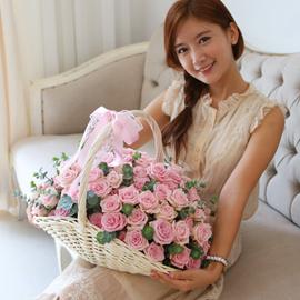 [일시적 서울,경기일부지역만][100] Lovely sweet II - Pink blossom 꽃배달하시려면 이미지를 클릭해주세요
