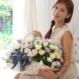 [일시적 서울,경기일부지역만] [100] Lovely sweet II - Pastel blossom 꽃배달하시려면 이미지를 클릭해주세요