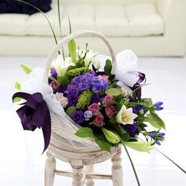[서울배송] Lovely sweet II - Lilly Basket 꽃배달하시려면 이미지를 클릭해주세요