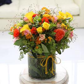 [서울배송]  Modern & Natural - Deep Orange 꽃배달하시려면 이미지를 클릭해주세요