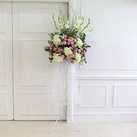 [수도권배송] 플라워119 디자인화환 - My wedding 꽃배달하시려면 이미지를 클릭해주세요