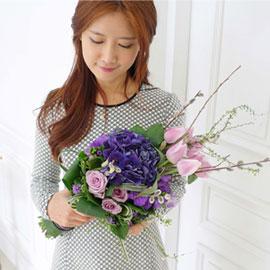 [서울배송] Spring & Sweet - Grace Violet 꽃배달하시려면 이미지를 클릭해주세요