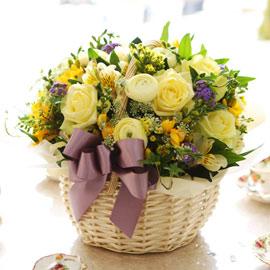 [서울, 광역시배송] Spring & Sweet - 따뜻한 말 한마디(*바구니 변경) 꽃배달하시려면 이미지를 클릭해주세요