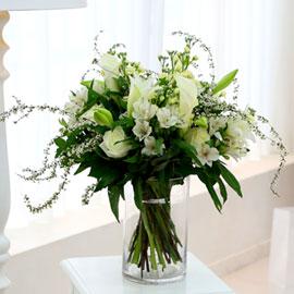 [ fourseasons flower /계절꽃사용] fourseasons NO Mixed white bouquet 꽃배달하시려면 이미지를 클릭해주세요