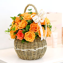 장미의 맹세 - orange blusher 꽃배달하시려면 이미지를 클릭해주세요