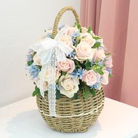 장미의 맹세 - pink cotton candy(봄,겨울엔 블루옥시 대신 다른꽃으로 대체됩니다 꽃배달하시려면 이미지를 클릭해주세요