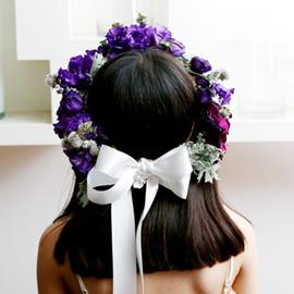 Wedding Hair garland 꽃배달하시려면 이미지를 클릭해주세요