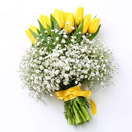 [수도권, 부산광역시 배송] 봄봄봄 - 노란 튜울립 꽃배달하시려면 이미지를 클릭해주세요