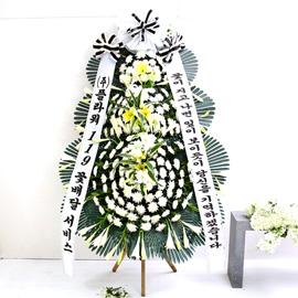 조문용 3단 화환 (특고급 중) - 꽃이지고나면 잎이 보이듯...기억하겠습니다 꽃배달하시려면 이미지를 클릭해주세요