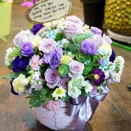 따뜻한 말 한마디 - 당신이 곁에 있어 다행이야!! (바구니 품절로로 다른 바구니로 대체됩니다) 꽃배달하시려면 이미지를 클릭해주세요